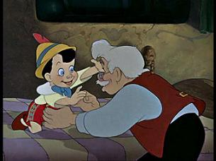 Geppetto Touching Pinocchio