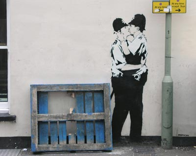 Banksy Cops Kissing