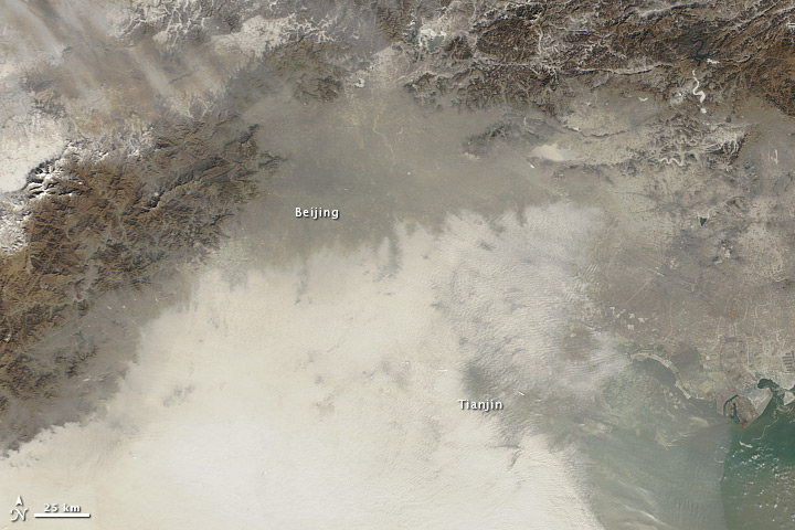 Image of Chinese air pollution from space